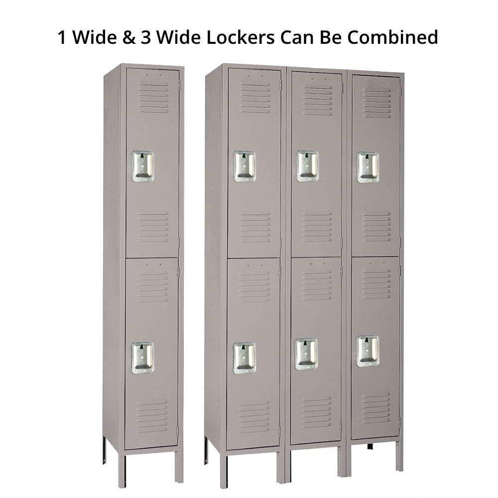 Amazon.com: Lyon dd52123 Locker unidad de acero 2 pisos con ...
