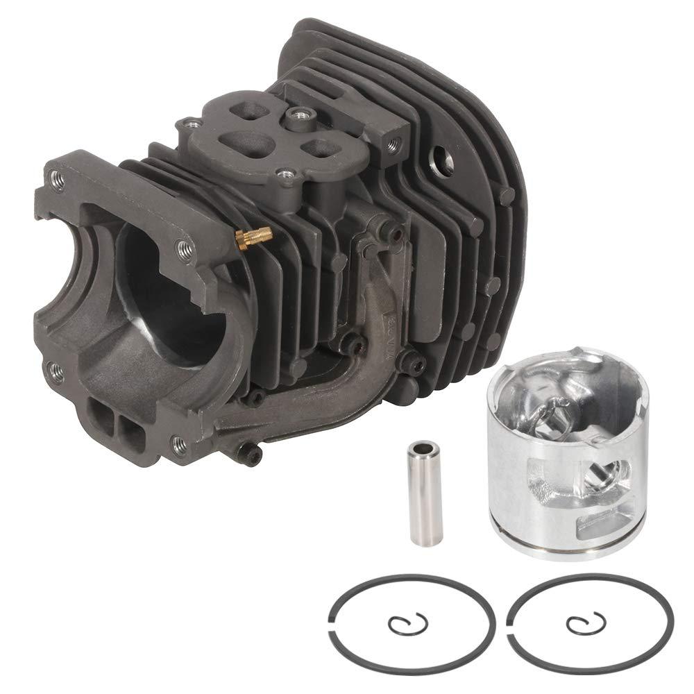 TUPARTS Cylinder Piston Crankshaft for Husqvarna 455 Rancher 455E 460 Husky Chainsaw 47mm Cylinder Head Piston Replace 537 32 04 02