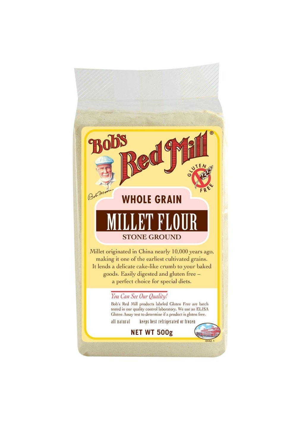 Bob's Red Mill - Whole Grain Millet Flour Stone Ground - 500g by Bob's Red Mill