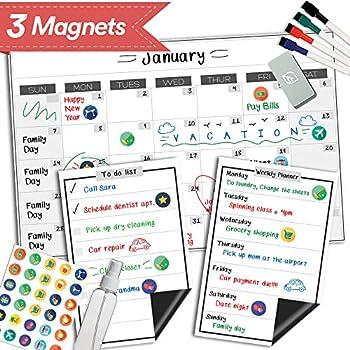 Amazon.com : Magnetic Dry Erase Refrigerator Calendar - 11