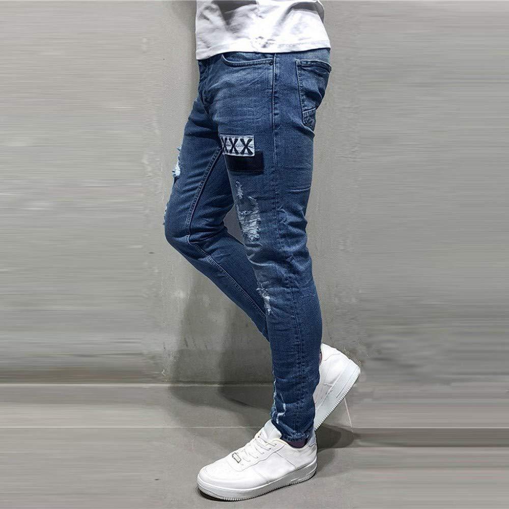 Hombre Vaqueros Hombres Rotos Pitillo Jeans Originales Skinny Denim Pantalon Ajustados Jeans Pantalones De Mezclilla Slim Hole Para Hombre Moda Casual Vaqueros Ropa Lekabobgrill Com