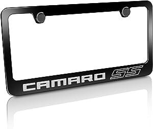 Chevrolet Camaro SS Black Metal License Plate Frame