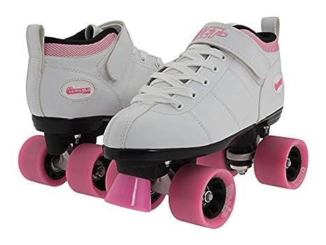 Roller Skates Amazon Com >> Chicago Bullet Ladies Speed Roller Skate White