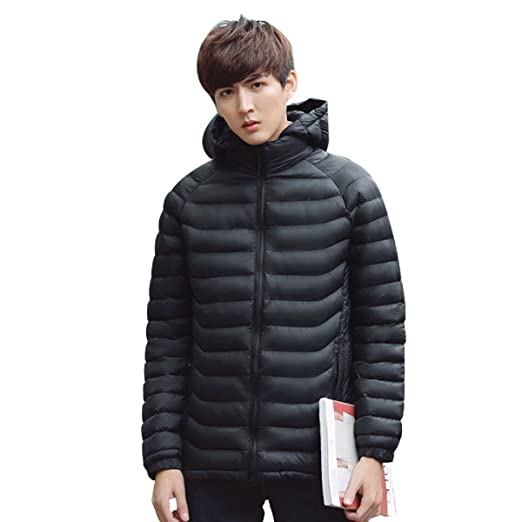 0983e60b6510 Image Unavailable. Image not available for. Color  LUNGJI Mens Puffer Jacket  Winter Anoraks ...