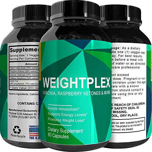 NEW Genuine Garcinia Cambogia, Green Coffee Bean & Raspberry Ketones Complex + Green Tea - Highest Grade Pure Blend, Quality & Premium Formula - Recommended Dosages, Guaranteed By Brandon Body of knowledge