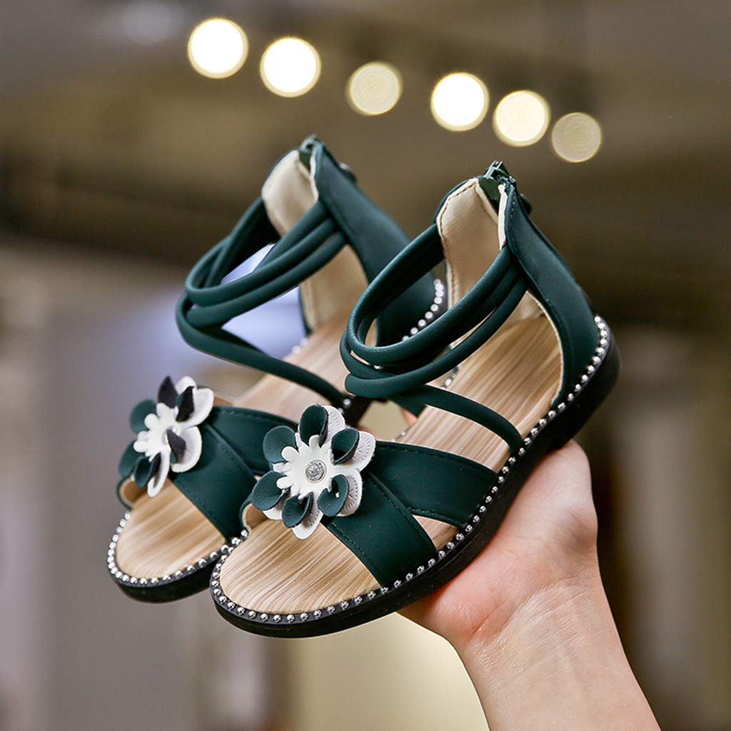 Toddler Shoes Infant Kids Baby Girls Casual Single Flower Zip Shoes Sandals Kids Sandals Baby Boys Girl Shoes Sandals