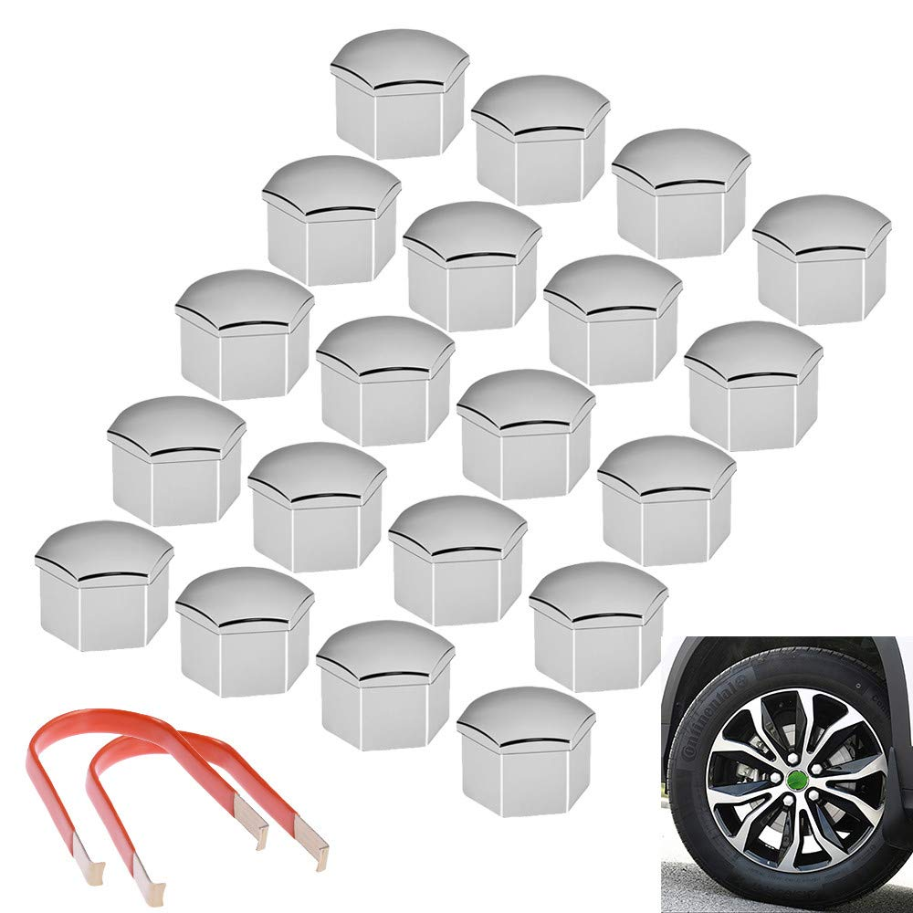 Wheel Lug Bolt Cap 7L6601173A Set Of 4PCS For VW InnoMotor Tech