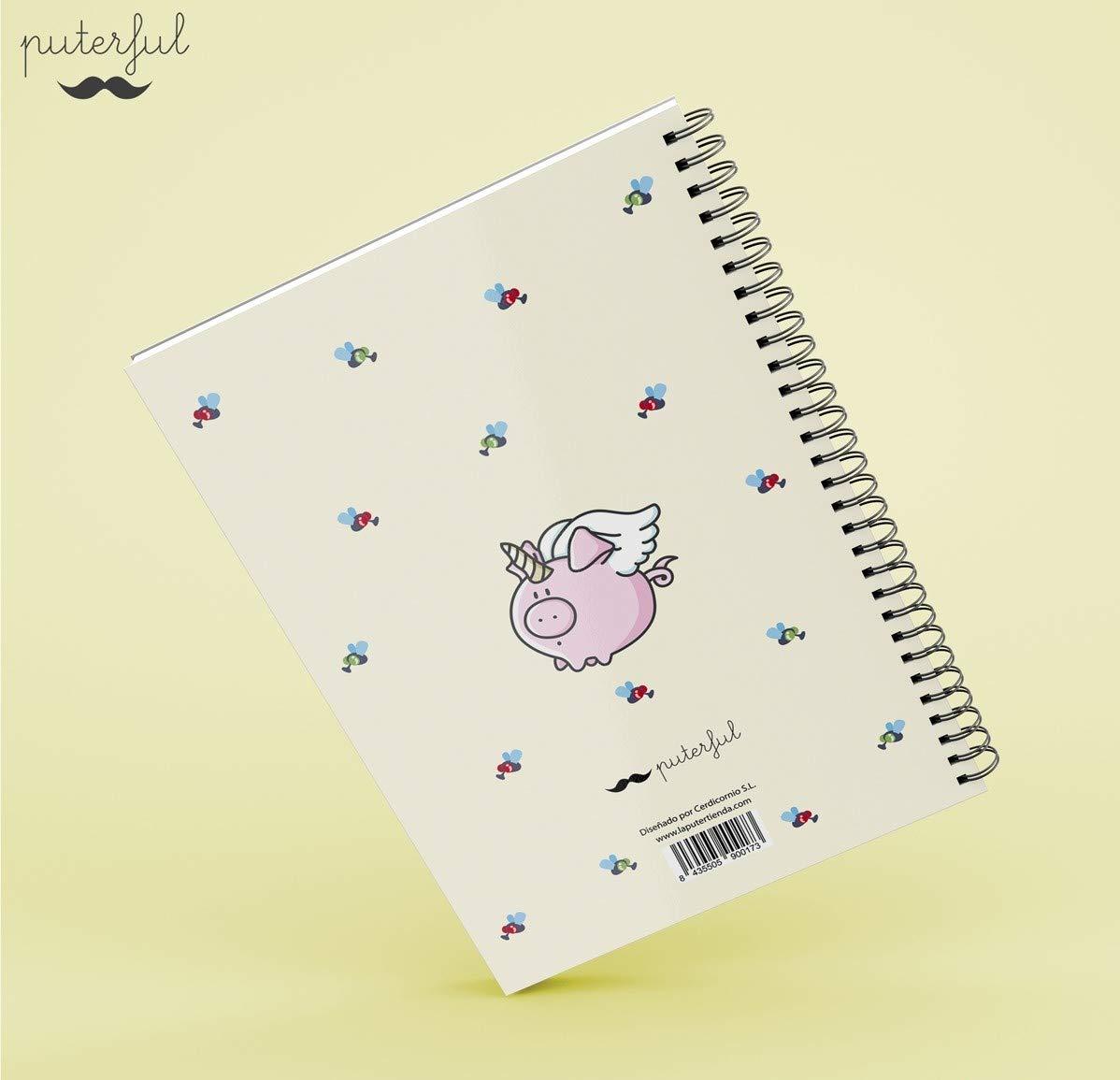 Puterful Cuaderno A5 Me CAGO en el Lunes mr: Amazon.es ...
