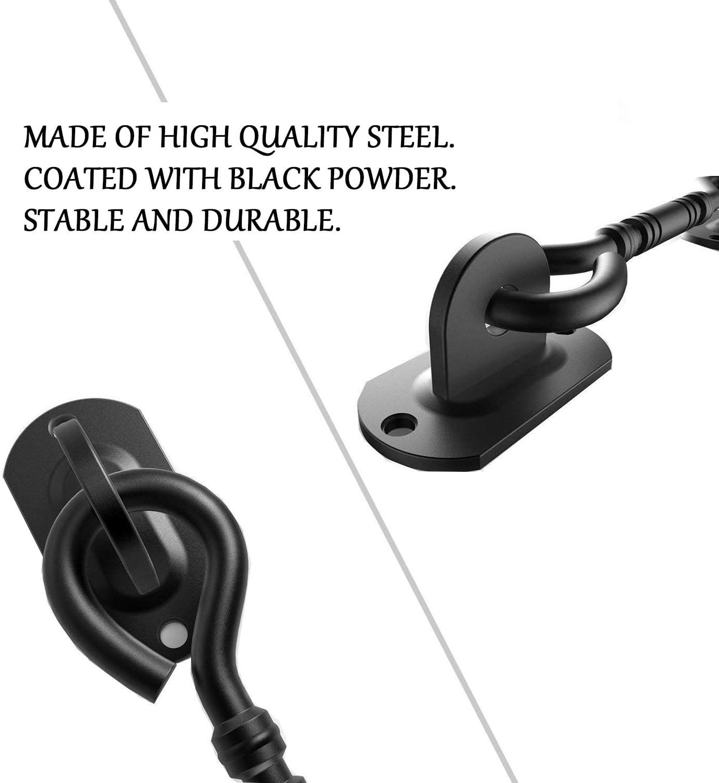 colore: nero in acciaio INOX con viti di montaggio Gancio per armadio stile vintage Hangartor