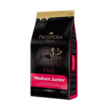 Prospera Plus Pienso Perros Jóvenes Raza Mediana Medium Junior Superpremium Pollo y arroz -15KG