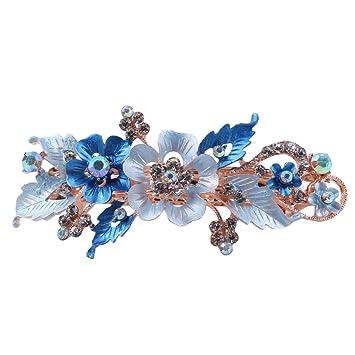 Strass Haarspange Schmetterling Blume Haarnadel Haar Zubehör Braut Accessoires