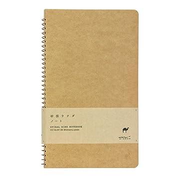 Amazon.Com : 1 X Midori-Spiral Ring Notebook Camel Blank Notebook