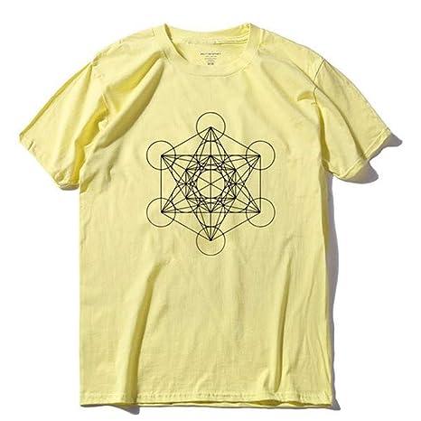 WEFAAS Camisetas 100% Algodón Summner Hombres Camiseta Casual ...