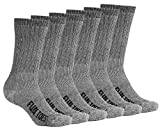 Image of FUN TOES Men's Merino Wool Socks -6 Pack Value- Lightweight,Reinforced-Size 8-12 (Black)