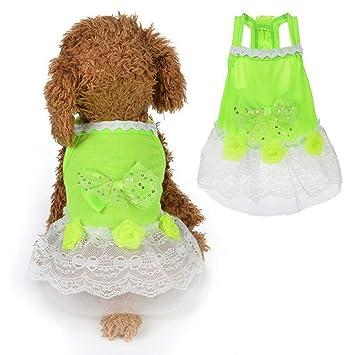 Amazon.com: Jim-Hugh - Falda para perro, diseño de lazo ...