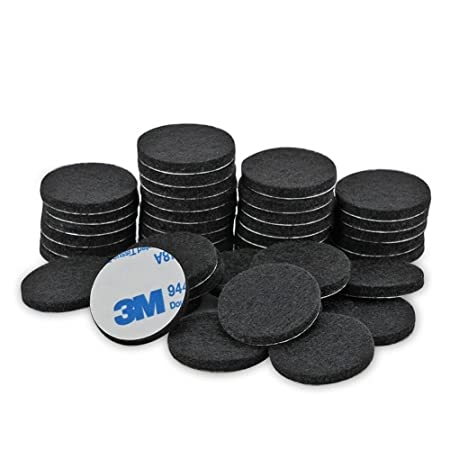 Tenn Well Furniture Pads, 50pcs Round Thick Self Adhesive Fiber Felting Heavy  Duty Felt