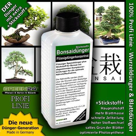 Bonsai-Dünger NPK Stickstoff+ HIGHTECH Dünger zum düngen von Bonsai Pflanzen, Premium Flüssigdünger aus der Profi...