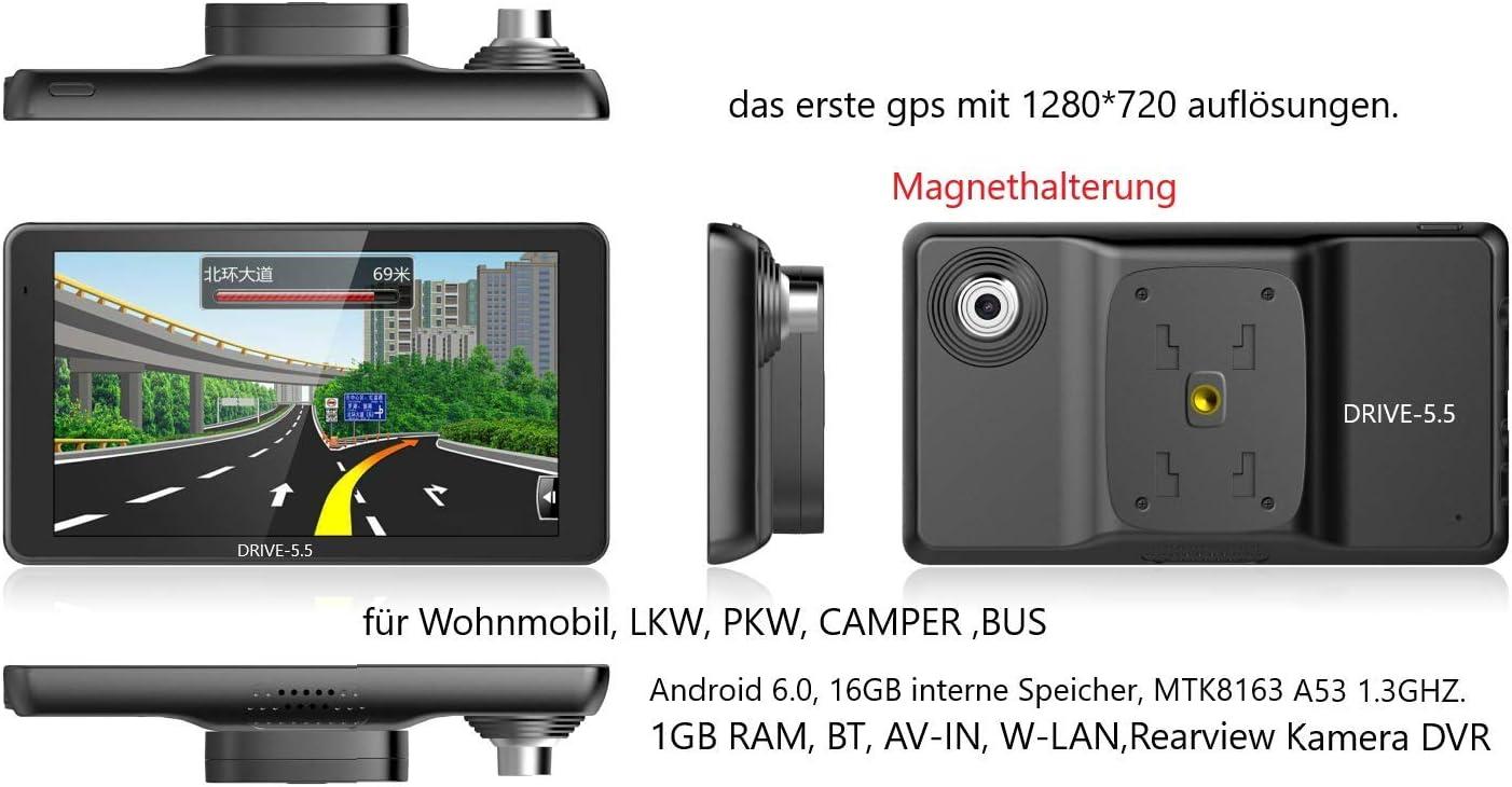 Navigationsgerät Für Lkw Truck Pkw Bus Wohnmobil Und Camper Radarwarner Kostenlos Map Update Ganz Europa Karte 47 Länder Gefahrgut Gratis Sonnenblende 5 5 Zoll Android Navigation