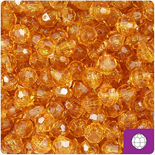 BeadTin Topaz Transparent 8mm Faceted Round Craft Beads (450pc)