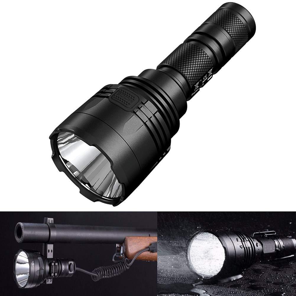 YKYM LED Taktische Taschenlampe Wasserfester 1000 Lumen 618 Meter Langer Wurf Hohe Intensität Für Camping, Jagd, Wandern, Angeln (Batterien Nicht Enthalten)