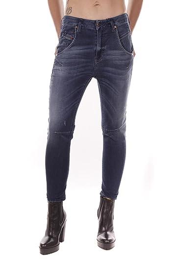 Diesel Fayza NE 0670V Ladies Sweat Jeans (Blue 77381f7999f