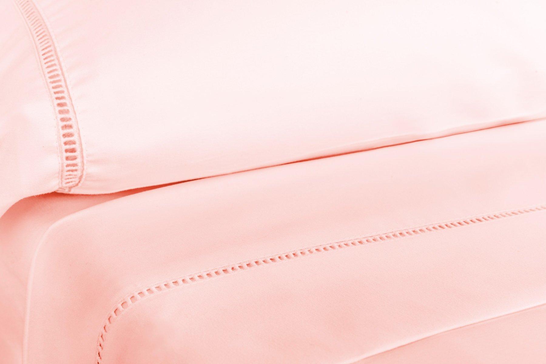 Grace Premium Microfiber Sheet Set - Super Soft, Deep Pocket, Embellished with Hypoallergenic, Wrinkle Resistant and Fade Resistant Brushed Microfiber – 4 Piece Set (Full, Pink) by ViscoSoft (Image #4)