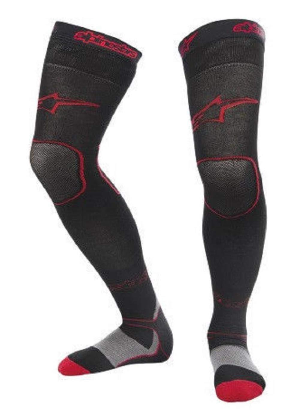Alpinestars Long MX Socks, Distinct Name: Red, Primary Color: Red, Size: Lg-2XL, Gender: Mens/Unisex