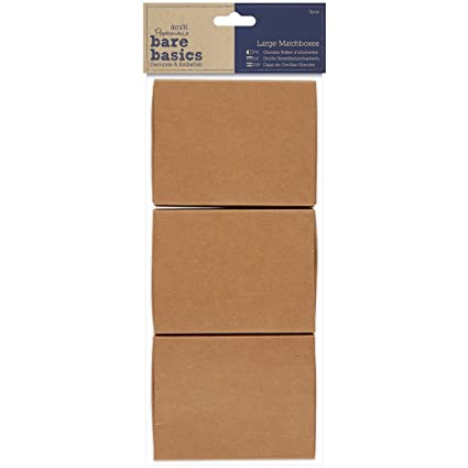 "Papermania Bare Basics Kraft Matchboxes 3/Pkg-3.5"" ..."