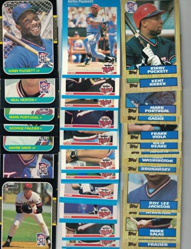 Minnesota Twins / (3) Complete 1987 Baseball Team Sets with Topps, Donruss & Fleer!! 1987 World Series Champs!! (Gagne Baseball Twins Card Minnesota)