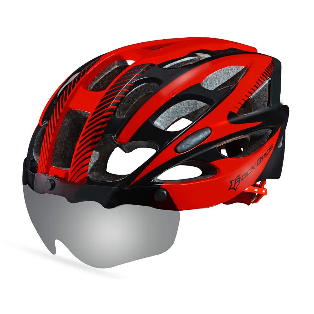 CZPF Rennradhelm Einteilige MäNner Und Frauen Vier Jahreszeiten Fahrradhelm Sport Outdoor Schutzhelm Off-Road,K-OneGröße(5662CM)