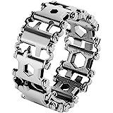 Multifunctional Tool Bracelet 29 In 1 Silver Friendly Glossy Bracelet Wristband Stainless Steel Wearable Bracelet Wearable Ou