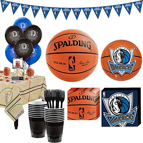 - Party City Super Dallas Mavericks Party Kit for 16 Guests, Includes Table Cover, Decorations and Tableware