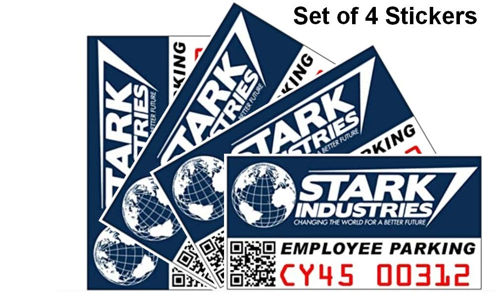 Stark Industries Parking Stickers, Set of 4
