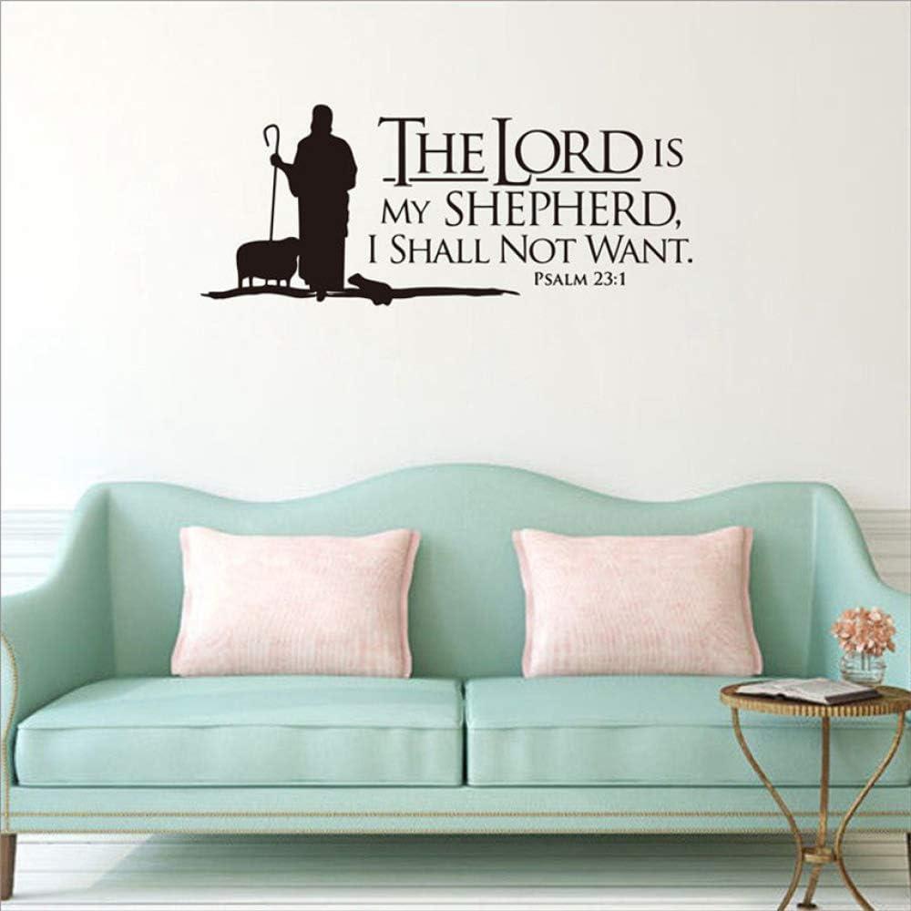 YuanMinglu Versículos bíblicos Pastor Mural Apliques de Vinilo ...