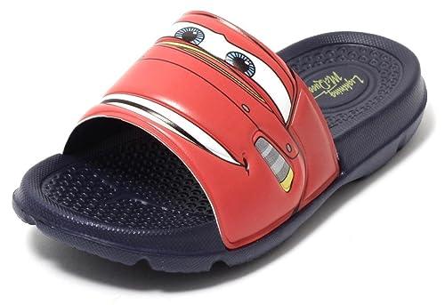 CARS Lightning McQueen Disney Pixar Kinder Badepantolette Pantolette Sandale Schuhe Gr.25 27