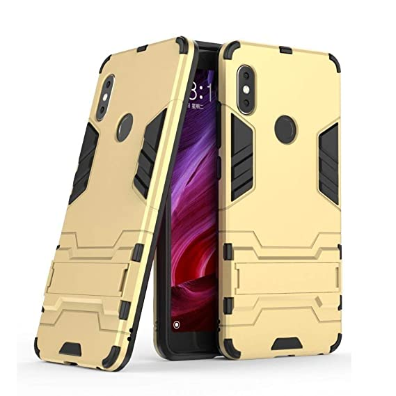 26de6d765e8 Glover Heavy Duty Shockproof Armor Kickstand Back Case Cover for Redmi Note  5 Pro  Amazon.in  Electronics