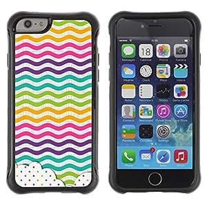Suave TPU GEL Carcasa Funda Silicona Blando Estuche Caso de protección (para) Apple Iphone 6 / CECELL Phone case / / Dot Waves Lines Rainbow Color /