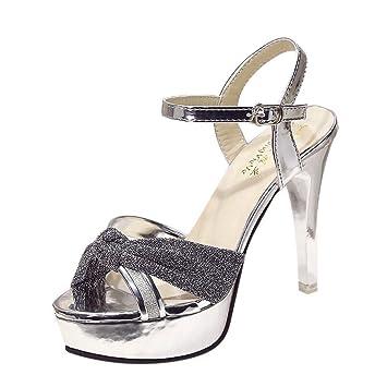 100% genuine amazon many styles Amazon.com: Go-First Women's High Heel Sandal Pointed Toe ...