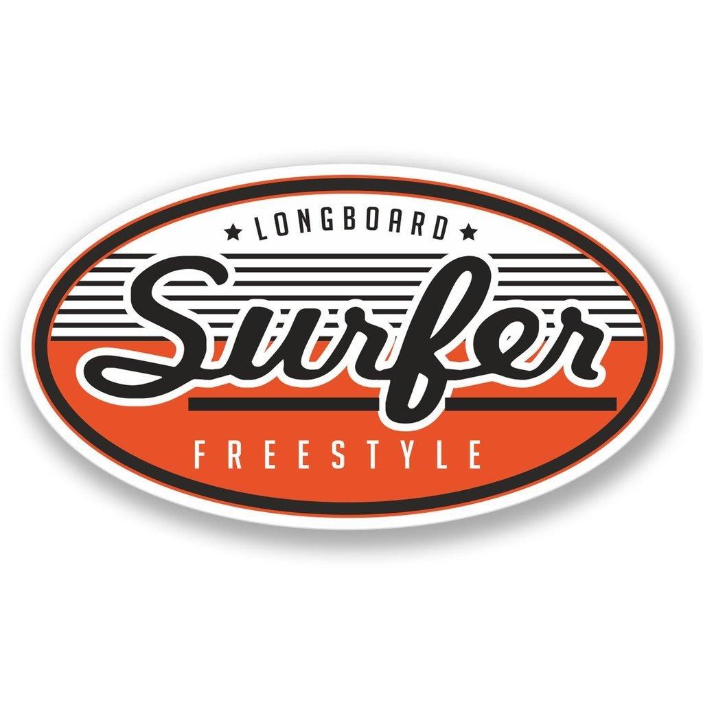 2 x 10cm//100mm Longboard Freestyle Surfer Vinyl Selbstklebende Sticker Aufkleber Laptop Reisen Gep/äckwagen Cool Zeichen Spa/ß #4194