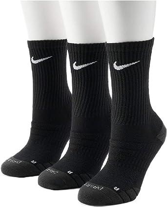Nike Women's 3-pk. Dri-Fit Cushioned Crew Socks (Black)