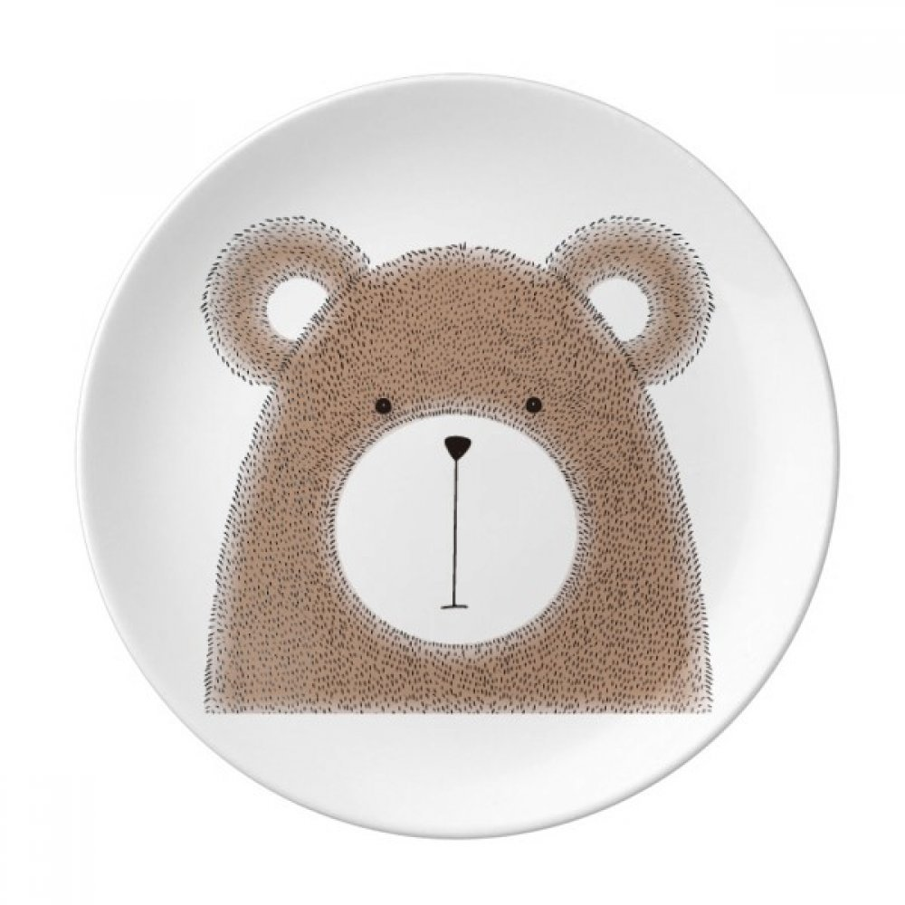 Simplicity Style Chubby Bear Animal Dessert Plate Decorative Porcelain 8 inch Dinner Home