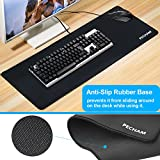 PECHAM Extended Gaming Mouse Pad - Non-Slip Water-Resistant Rubber Base Cloth Computer Mouse Mat, 30.71x11.81-Inch 3mm Thick XX-Large - Black