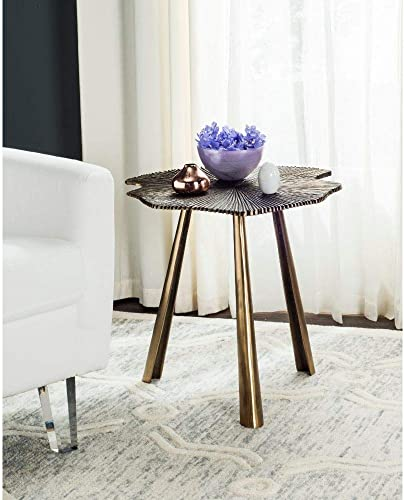 Safavieh Home Collection Portia Brass Leaf Side Table