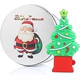Regalo di Natale Chiavetta USB 16GB Memoria USB Flash Drive 2.0 Memory Stick Christmas Gift , Idee Regalo Originali, Figurine 3D, Archiviazione Dati USB Gadget 8 GB/16 GB/32G/64GB