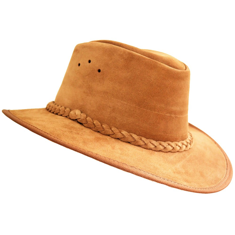 Cowboy//Outback//Aussie Style Suede Leather Hat Hand Crafted in S Africa