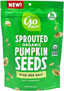 product image for Go Raw, Sprouted Pumpkin Seeds with Sea Salt, Organic, 4Oz