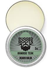 Rugged Roots Beard Balm and Leave in Conditioner, Softener and Moisturizer for All Hair Types. Unique Gift for Men, Father's Day Gift(Bamboo Teak)