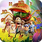 Art time production Cloudy with a Chance of Meatballs 11.4'' Handmade Wall Clock (Acrylic Glass) - Get Unique décor for Home or Office – Best Gift Ideas for Kids, Friends, Parents and Your Soul Mates