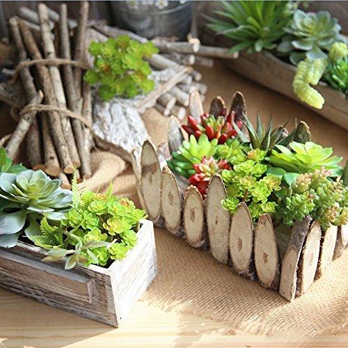 Merssavo Artificial Fake Green Leaf Plant Succulents Landscape Cactus Ornament Decoration