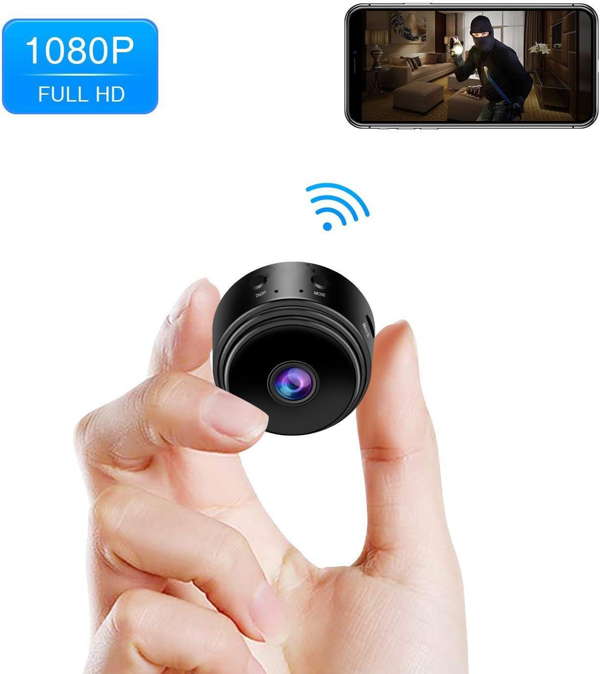 B&H-ERX 1080P HD WiFi Mini cámara, Incluye 32G Tarjeta SD, Tiny ...